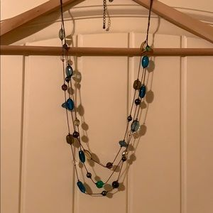 Lia Sofia long multi-strand blue necklace